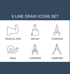 6 draw icons vector