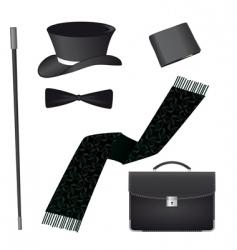 accessories for the business gentleman vector image