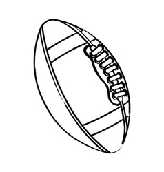 American football over white background vector