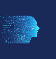 artificial intelligence conceptual vector image