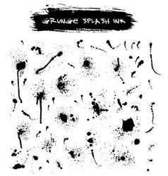 artistic brush stroke set isolated on white vector image