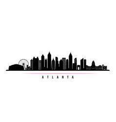 atlanta city skyline horizontal banner vector image