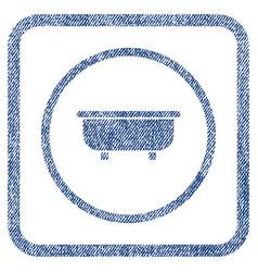 bathtub fabric textured icon vector image