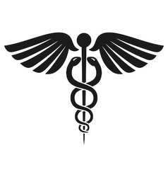 Caduceus Health Symbol vector image