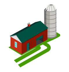 Cereal silo and storage house vector