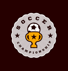 champion football logo modern professional vector image