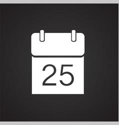 christmas calendar date on black background vector image