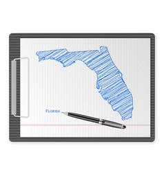 clipboard florida map vector image