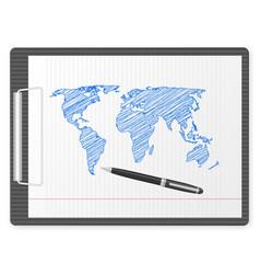 Clipboard world map vector