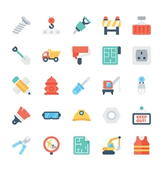 Construction Colored Icons 3 vector image