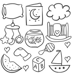doodle bawith toy object vector image