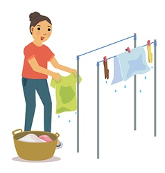 Dry clothes vector