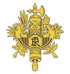 emblem of france vector image