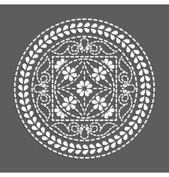 Ethnic round element flower mandala vector image