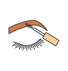 Eyebrows mascara color icon vector
