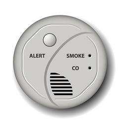 Fire smoke carbon monoxide detector alarm vector