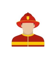 Fireman icon flat vector image