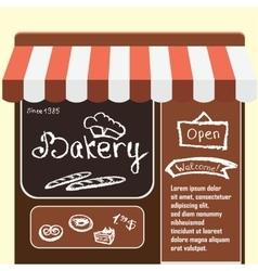 Flat bakery shop vector