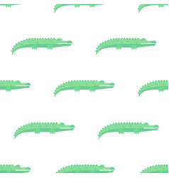 funny crocodiles pattern vector image