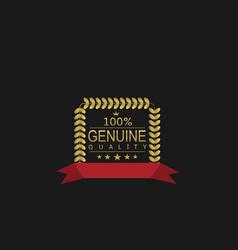 Genuine quality icon vector