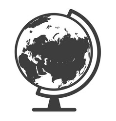 globe black icon geography and travel concept vector image
