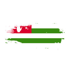 grunge brush stroke with abkhazia national flag vector image