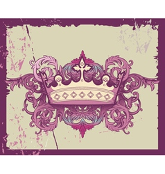 Grunge Crown vector