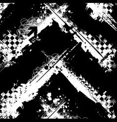 Grunge white arrow race background vector