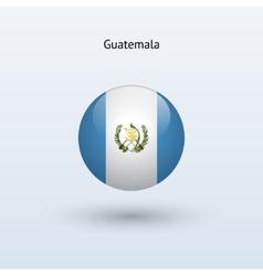 Guatemala round flag vector