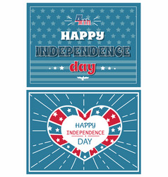 happy independence day poster greeting card design vector image