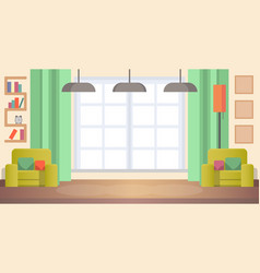 Image living room at home cozy home interior vector