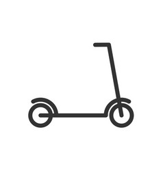 kick scooter line icon vector image