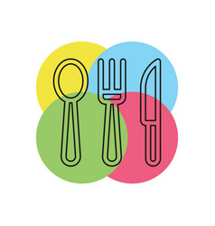 knife fork and spoon icon vector image