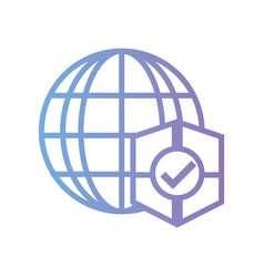 line global connection with shield protection vector image