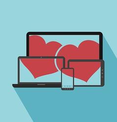 Love online vector image vector image