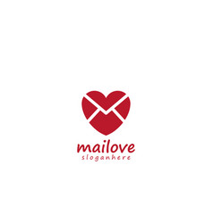mail love icon logo design element vector image