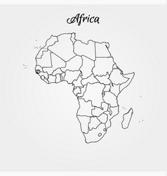 map africa world map vector image