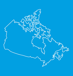 map of canada icon outline style vector image