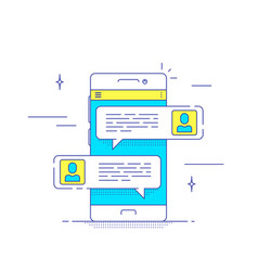 Mobile messenger concept vector