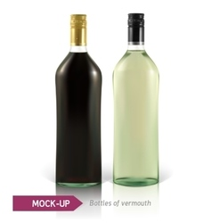 Mockup martini bottle vector image