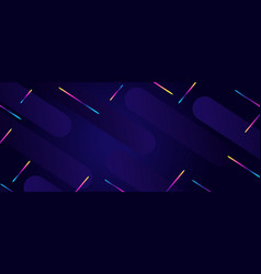 modern futuristic style banner with chaotic vector image