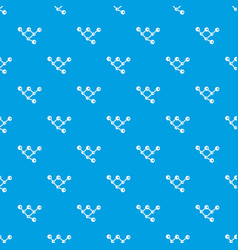 molecule structure pattern seamless blue vector image