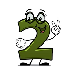 Number two cartoon image vector image