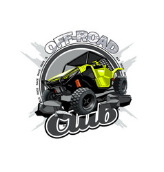 Off-road atv buggy logo off road club vector