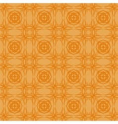 Orange Decorative Retro Seamless Pattern vector