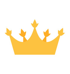 princess golden crown icon isolated on white vector image