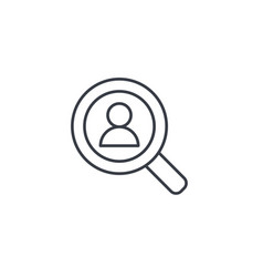 Recruitment resume search job selecting staff vector