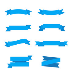Ribbons in flat style vector