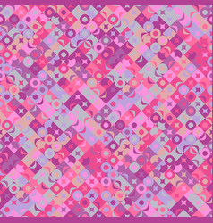 Seamless abstract chaotic curved shape pattern vector