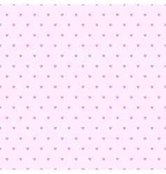 seamless hearts polka dot pattern vector image